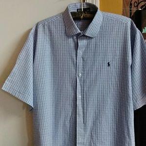 Men's Beautiful Blue and White Dress Shirt Size 4X